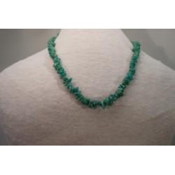 Halskette - Amazonit Splitter 8x42