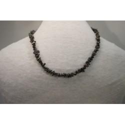 Halskette - Hämatit Splitter 8x42