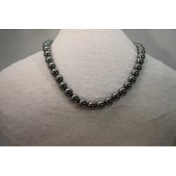 Halskette - Hämatit 10x42