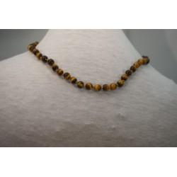 Halskette - Tigerauge 6x42