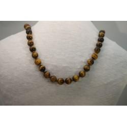 Halskette - Tigerauge 10x80